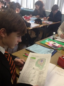 Skills development in year 9- Contour lines  Layer shading